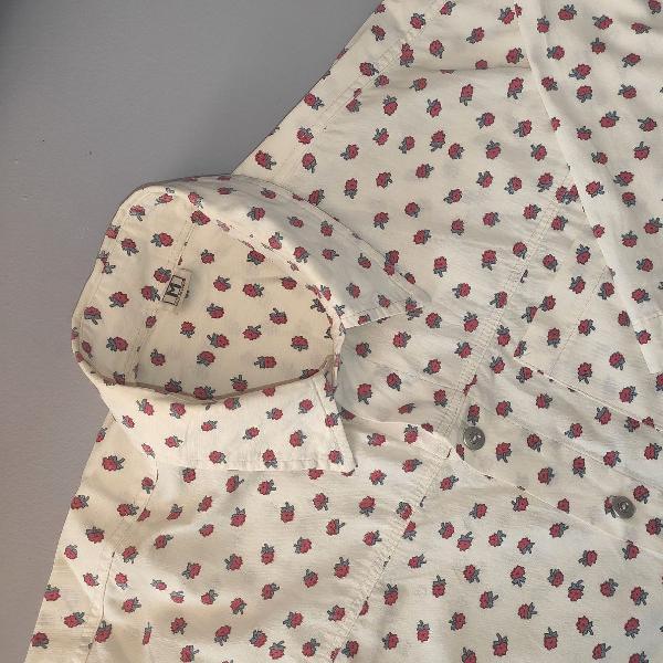 Camisa vintage estampada de rosas