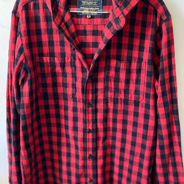 Camisa xadrez vermelha com capuz , khelf