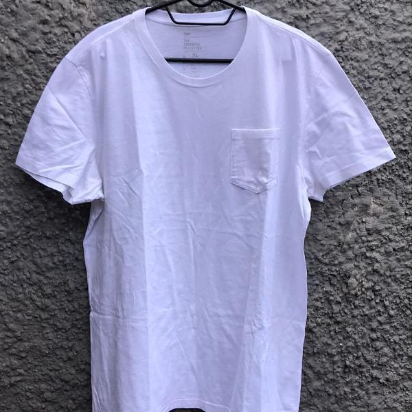 Camiseta básica branca gap