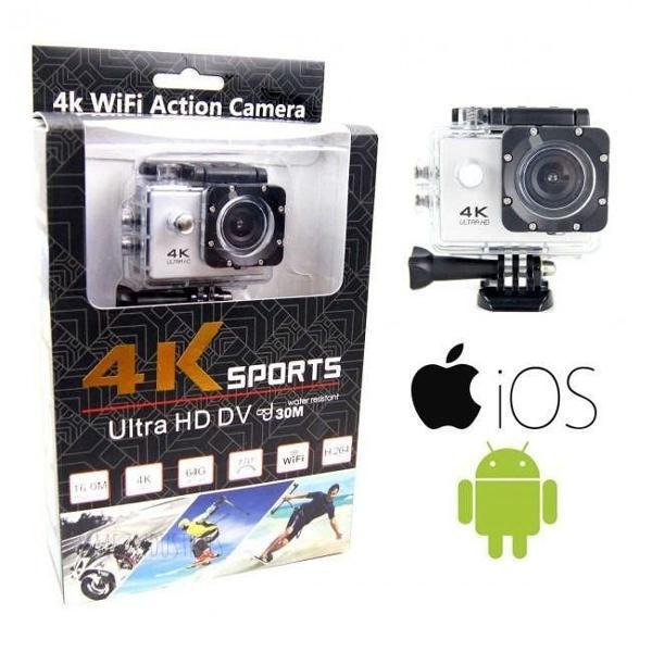 Câmera action go cam pro sports 4k wifi prova d'água