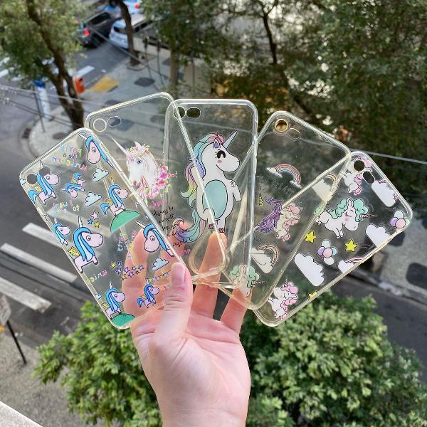 Coleção unicornio iphone 7/8 e o se novo