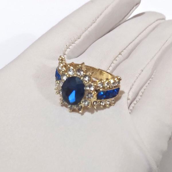 Lindo anel titanic feminino metal inoxidável dourado com