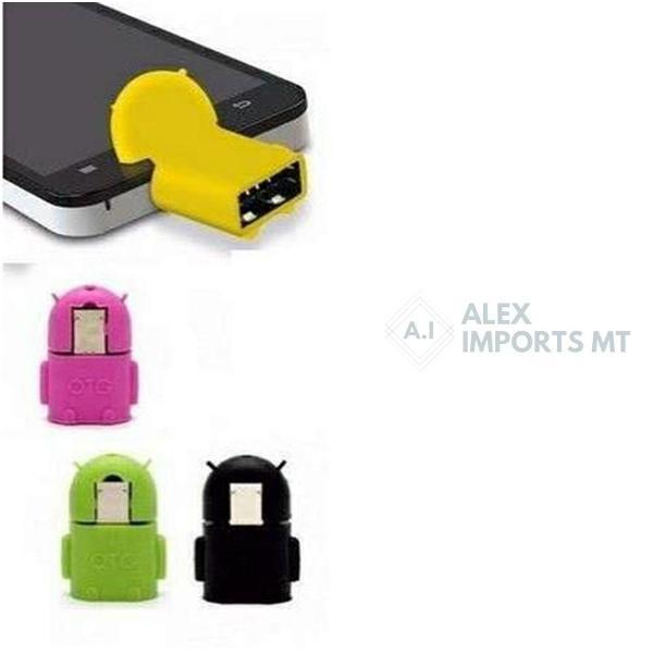 Mini adaptador otg usb femea x micro usb v8 macho android
