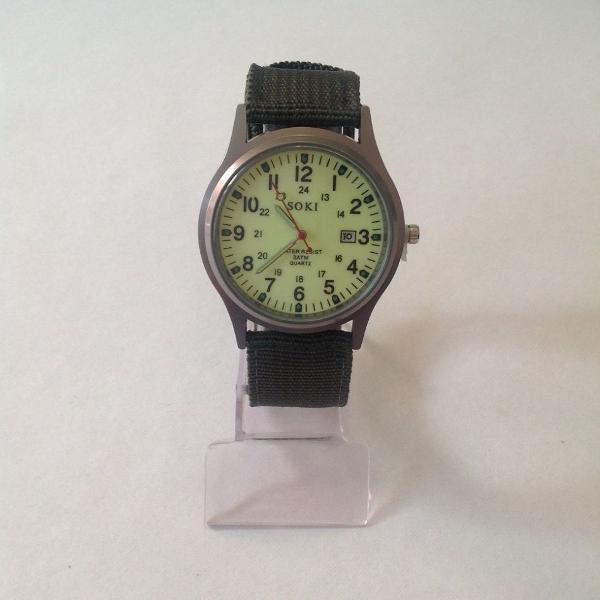 Relógio de pulso masculino esportivo nylon