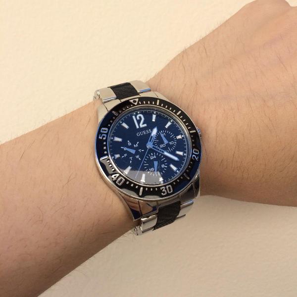 Relógio prata/preto