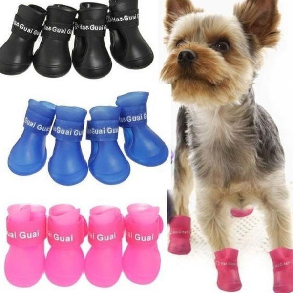 Sapato botinha para cachorro antiderrapante impermeável