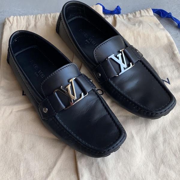 Sapato mocassim louis vuitton masculino preto