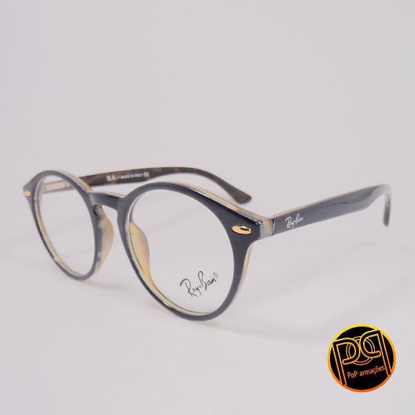 Armação de óculos redondo rayban