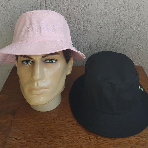 Super stars kit 2 chapéus bucket hat unissex sem costuras