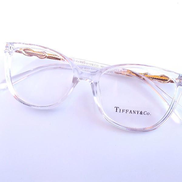 Armação tiffany transparente óculos