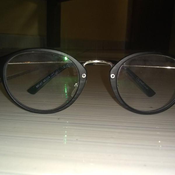 Armação de óculos de grau redonda