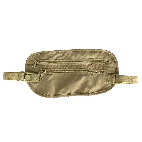Bolsa invisível pochete de viagem doleira porta celular