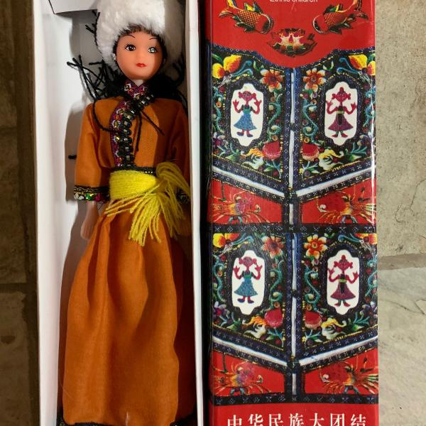 Boneca étnica chinesa - manchu - importada