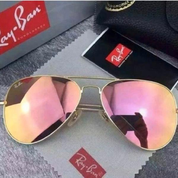 Culos ray ban aviador 3026 rosê espelhado importado