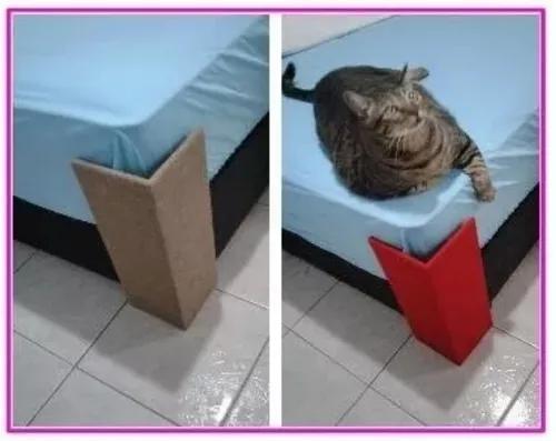1 arranhador canto sofá e camabox p gato 40x15 mdf 6mm