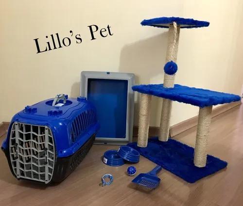 Arranhador gato kit gato completo 3 bases