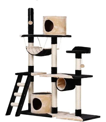 Arranhador para gatos 2 tocas com rede