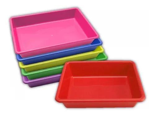Bandeja higiênica caixa de areia para gato 4un