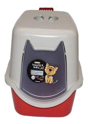 Banheiro fechado para gatos c/ pa e filtro 58c x 40l x 40a