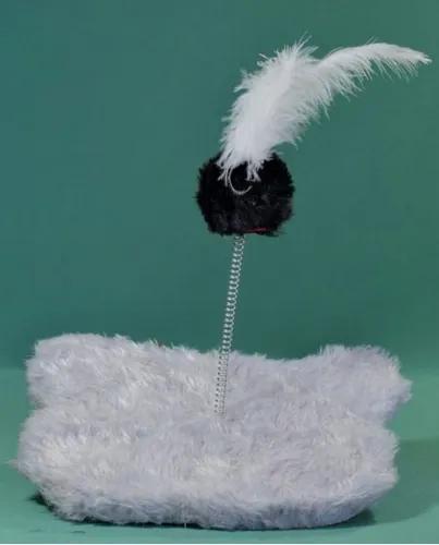 Brinquedo para gatos ratinho com mola.