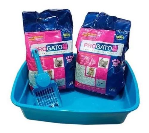 Caixa de areia gatos + areia para gato granulado higiênico