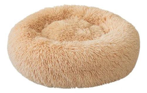 Cama redonda macia do animal de estimação do gato cama