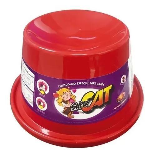 Comedouro alto para gatos super cat furacão pet 200 ml