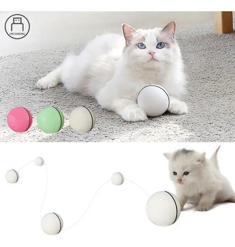Elétrica interativa gato brinquedo bola rolando para