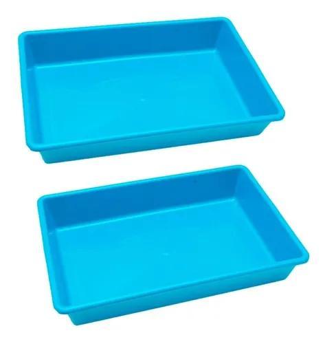 Kit 2 caixa de areia para gatos bandeja higiênica