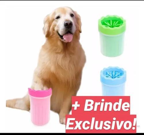 Lavador de patas para pets gatos cachorros médio + brinde