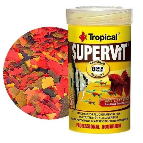 Ração tropical supervit flakes 100g p/ peixes ornamentais