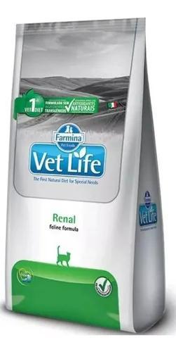 Ração vet life feline renal para gatos 2 kg