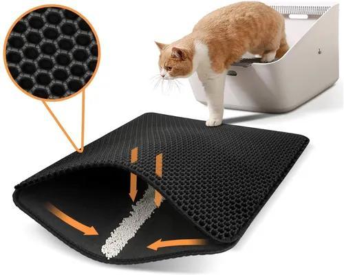 Tapete para caixa de areia gato dupla camada impermeável
