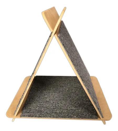 Toca arranhador triângulo para gatos cat pet mdf carpete