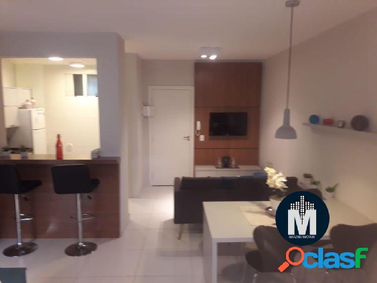 Apartamento decorado e mobiliado, studio 1 dorm, suíte, área útil: 42m²