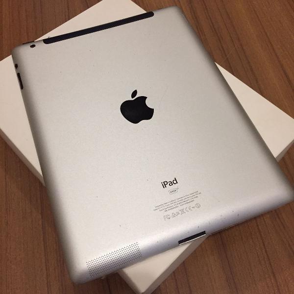 Ipad 2 branc/silver 64gb única dona com nota fiscal, capa