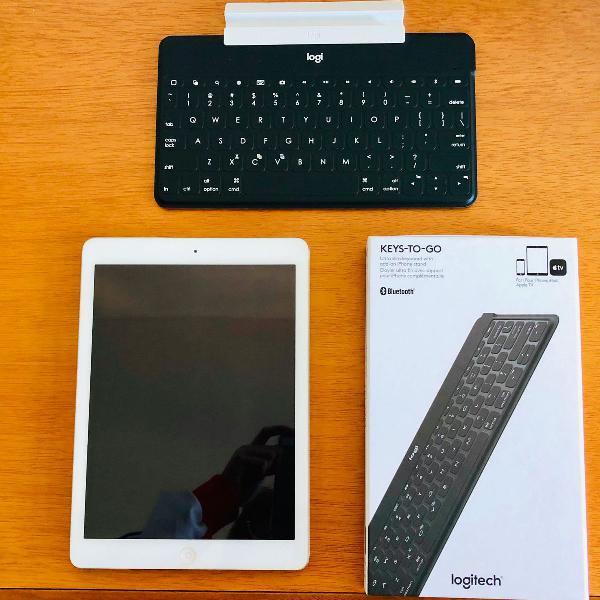 Ipad air 1 e teclado bluetooth logitech