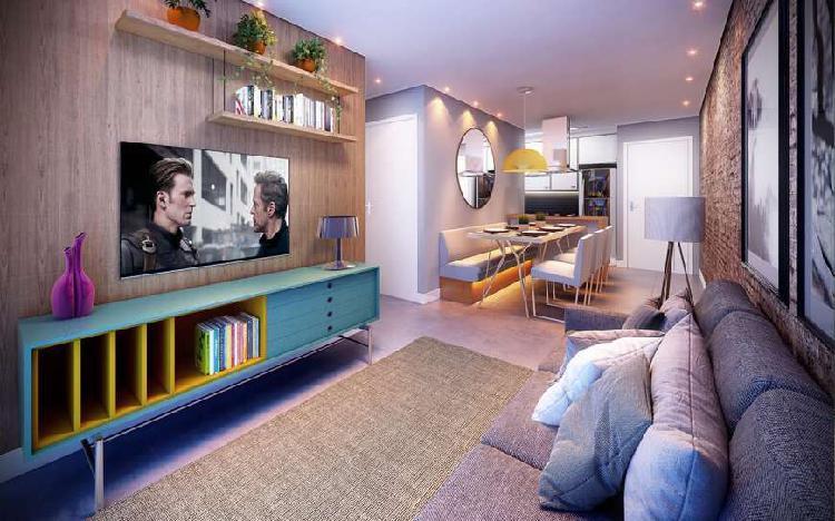 Apto de 53 m², 2 dorms, 1 suite, 1 vaga .