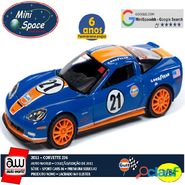 Auto World 2011 Corvette Z06 azul escuro Gulf Oil Racer 1/64