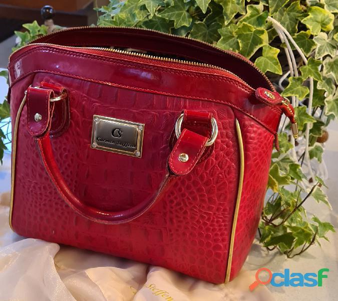 bolsa vermelha Carmen Steffens