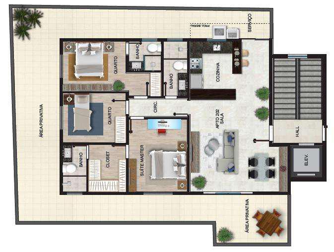 Apartamento, santa inês, 3 quartos, 3 vagas, 1 suíte