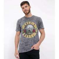 """Camiseta com estampa guns n' roses preto <div class=""""flex"""