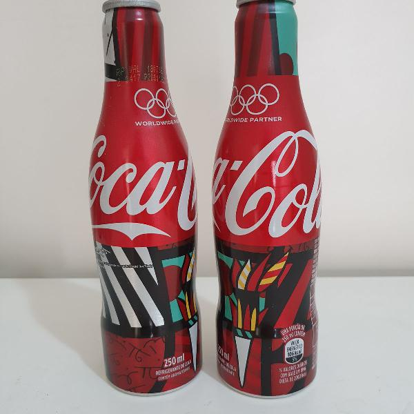 Kit 2 garrafas olimpíadas 2016 - romero britto