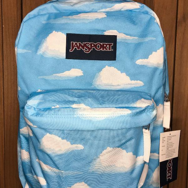 Mochila jansport superbreak partly cloudy nova!