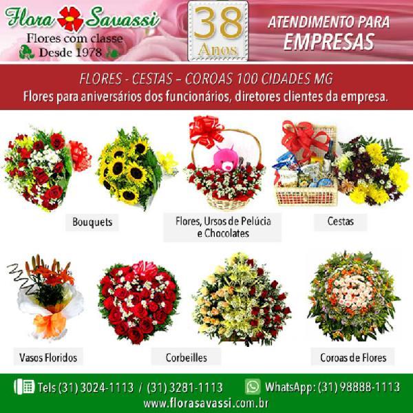 Sabará mg floricultura entrega flores e cestas para