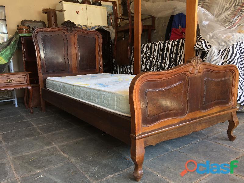 Cama provençal + colchão d23   madeira   raridade   conservada