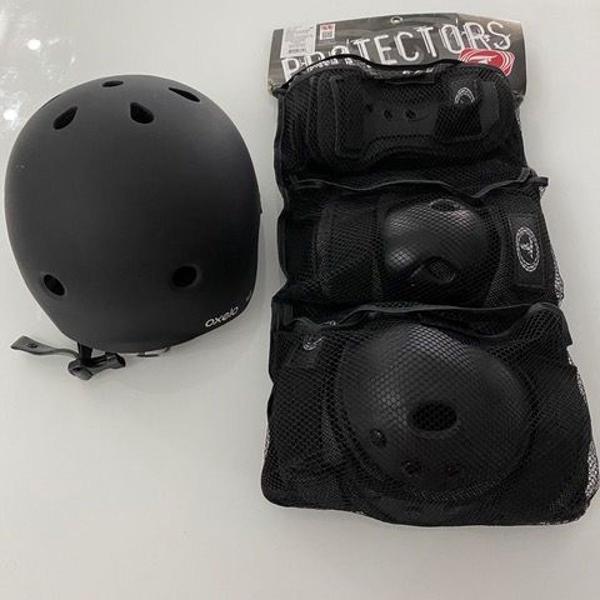 capacete + kit proteção traxart sse