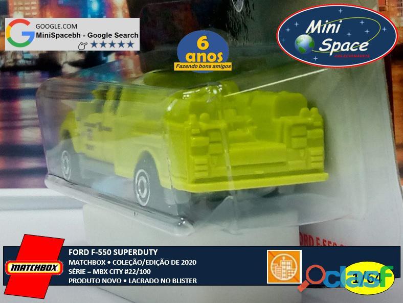 Matchbox Ford F 550 SuperDuty Bombeiro 1/64 8
