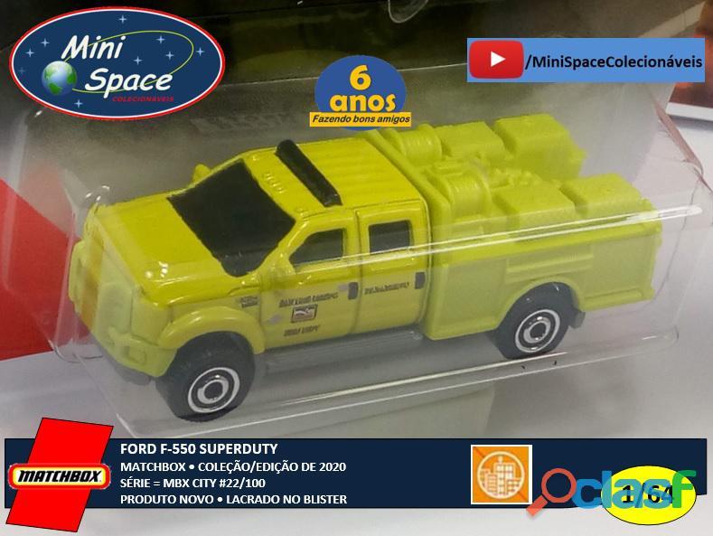 Matchbox Ford F 550 SuperDuty Bombeiro 1/64 7