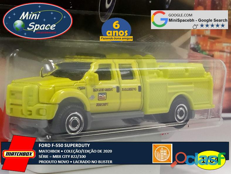 Matchbox Ford F 550 SuperDuty Bombeiro 1/64 5
